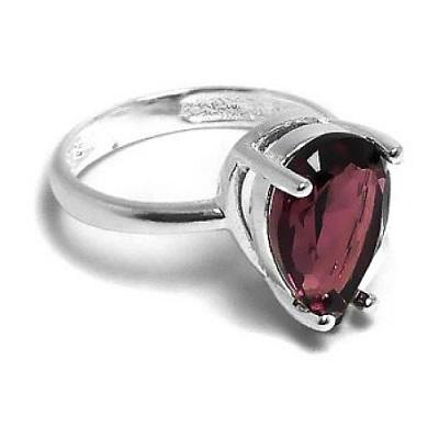 4e0c844c3bae Anillo de Plata gota engarzada violeta. BH joyas anillos piedras cubics de plata  por mayor